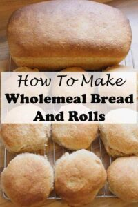 Home baking. Wholemeal Bread and Rolls. Make your own home baked bread and wholemeal rolls by hand or by using a stand mixer. Easy to follow step by step picture guide. #neilshealthymeals #recipe #wholemealbread #wholemealrolls #bread