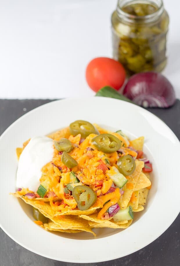 Lynne's Nachos with Spicy Salsa