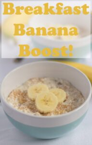 Breakfast banana boost is a super easy healthy overnight oats recipe which will give you that much needed boost in the morning. This protein packed banana oats breakfast will give you the right start to the day! #neilshealthymeals #recipe #breakfast #banana #overnight #oats