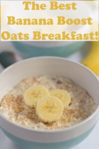 Two bowls of overnight banana oats.