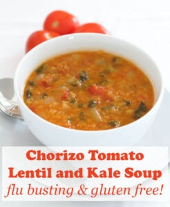You'll love the smell of this chorizo, tomato, lentil and kale soup as it permeates your kitchen and house when the chorizo is releasing its juices. And as for the taste, well it's just a complete taste sensation! #neilshealthymeals #recipe #soup #chorizo #chorizorecipe