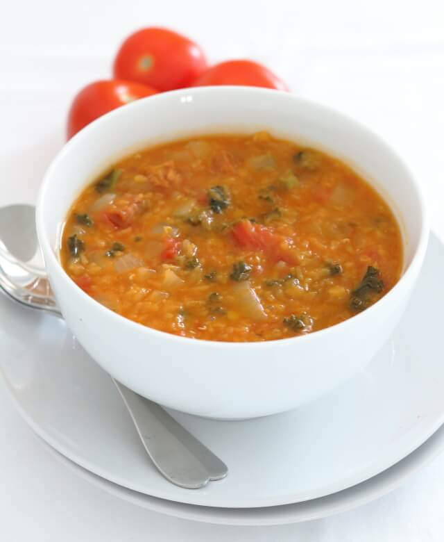 I love the smell of this chorizo, tomato, lentil and kale soup as it permeates our kitchen and through our house when the chorizo is releasing its juices. And as for the taste, well I just think it is a complete taste sensation! Sometimes simple is best……