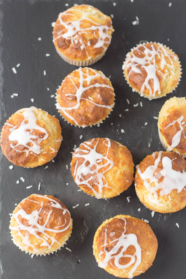 Skinny Coconut and Vanilla Muffins