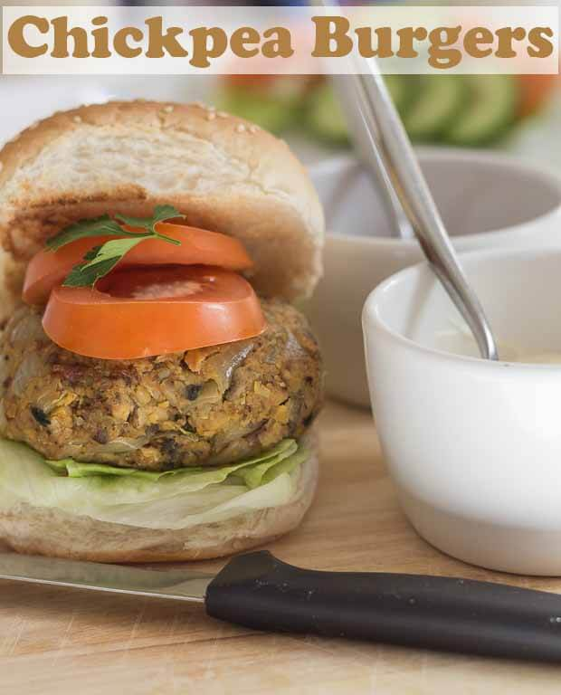 These chick pea burgers are extremely easy to make, filling, high in fibre and low in fat! Everybody loves burgers, and vegetarian burgers can be just as tasty as meat ones. You can make 4 large burgers with this recipe, or 6 slightly smaller ones. The choice is yours. #neilshealthymeals #vegetarian #chickpea #burgers #chickpeaburgers