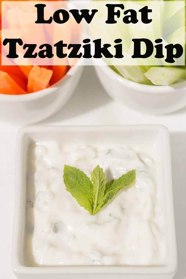 Low fat tzatziki dip recipe is a healthy take on the classic Greek yogurt sauce. It's ideal for dipping, spreading and as a compliment to salads. But, best of all this recipe is low calorie so unlike the original, it won't be so hard on your waistline! #neilshealthymeals #tzatziki #healthytzatziki #lowfattzatziki