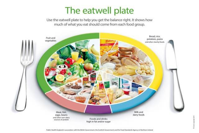 The food groups neils healthy meals the eatwell plate showing the food groups forumfinder Choice Image