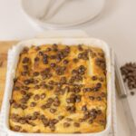 Chocolate Chip and Vanilla Bread and Butter Pudding