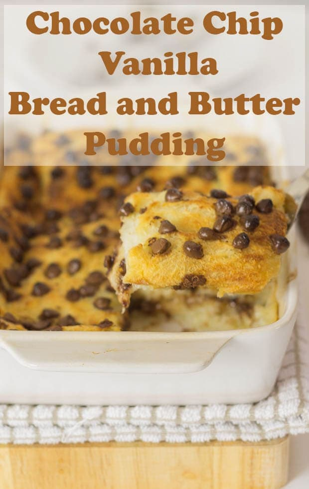 Chocolate chip and vanilla bread and butter pudding is just chocolate pudding heaven! It's an easy bread and butter pudding recipe with an indulgent twist which makes a most memorable dessert! This healthy bread and butter pudding does not use cream and only the very smallest amount of butter is used to keep it's authenticity. #neilshealthymeals #recipe #dessert #pudding #breadandbutter
