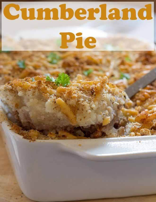 This cumberland pie is a healthier version of the traditional recipe. This hearty family dish is made with lean beef mince and has a potato and cauliflower mash on top. #neilshealthymeals #recipe #cumberlandpie #casserole