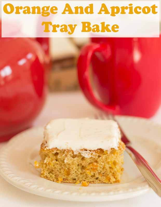 This easy low fat orange and apricot tray bake recipe makes for a healthier bake to go with your morning or afternoon cuppa. Plus it's only 246 calories per slice. #neilshealthymeals #recipe #orange #apricot #traybake
