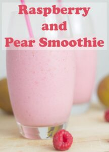 This raspberry and pear smoothie is packed full of protein, calcium and potassium. It's really low in calories too. As an easy to make smoothie recipe it's just the perfect healthy start to your day! #neilshealthymeals #recipe #smoothie #smoothierecipe #raspberry #pear #raspberrysmoothie #pearsmoothie #lowcalorie