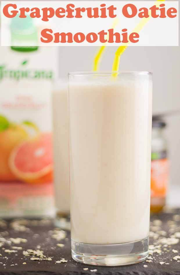 Grapefruit oatie smoothie is a quick and easy healthy weightloss smoothie. With a delicious rejuvenating naturally sweet taste it's also ideal for a morning after detox too! #neilshealthymeals #recipe #grapefruit #grapefruitsmoothie #smoothie