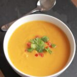 Sweet potato, garlic and chilli soup