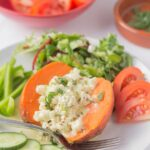 Baked Sweet Potato with Feta and Orange