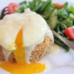 Smoked Haddock Fishcakes with Poached Egg and Mustard Sauce