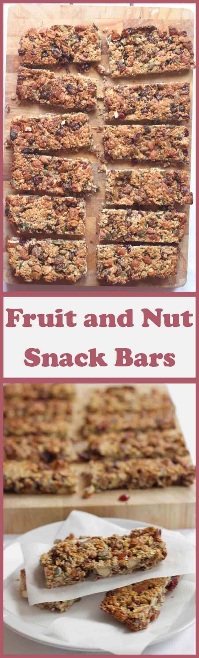 These healthy fruit and nut snack bars are tasty, chewy, and crammed with fruits, nuts and seeds. Providing vital vitamins and minerals they're only 200 calories each and they'll help you avoid the temptation of reaching for those not so healthy snacks!