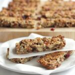 These fruit and nut snack bars are tasty, chewy and crammed full of fruits, nuts and seeds. Taking less than an hour to make they make a great healthy snack in between meals at only 200 calories each.