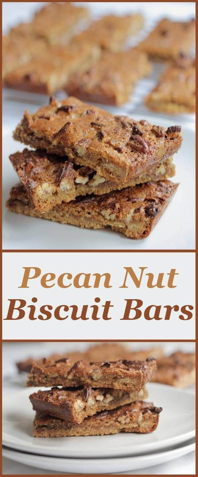 Pecan nut biscuit bars are delicious little low calorie handy lunch box snacks. They taste absolutely amazing and at only 163 calories each they make for a much more healthier snack bar than shop bought ones!