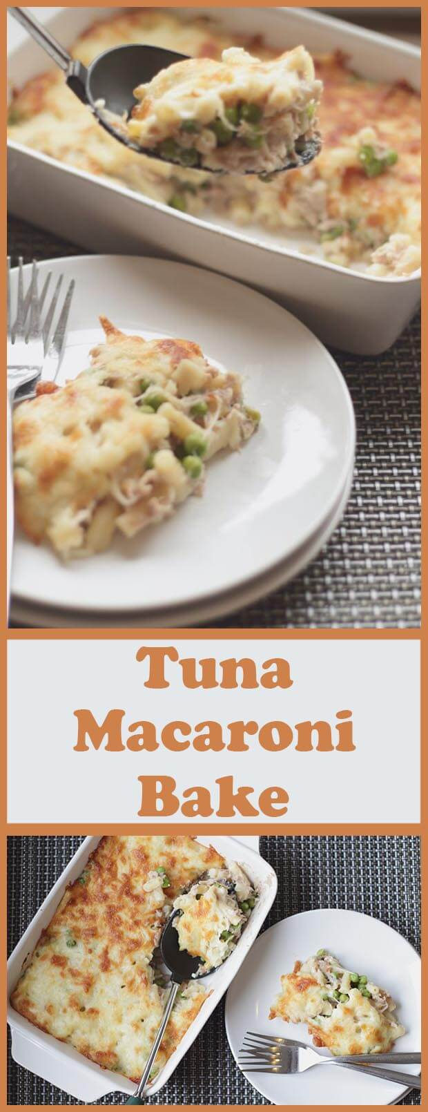 Tuna macaroni bake. This is a simple, tasty, low cost, relatively healthy family dish for four, and one that definitely fits into the favourite category of low cost, quick healthy meals!