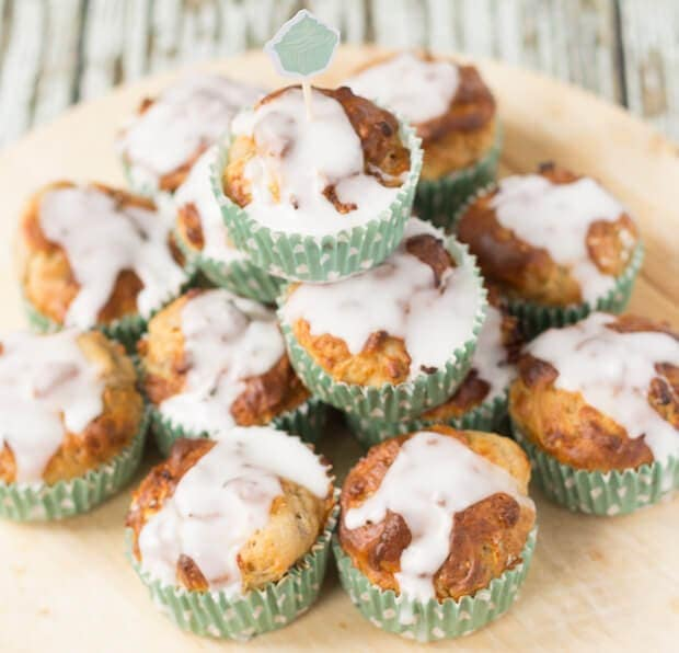 These scrumptious apple and pecan muffins have a light and moist texture and are sweet to taste. Made from low fat Greek yogurt they're only 143 calories each!