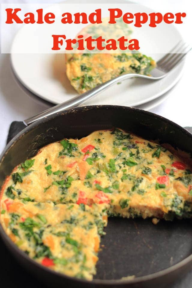 This kale and pepper frittata is not only really tasty but it's simple to make, packed with protein and full of healthy nutritional ingredients too! #neilshealthymeals #recipe #frittata #kale