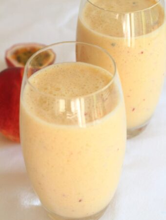 Mango Peach and Passion Fruit Smoothie