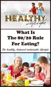 The 80/20 rule for eating isn't a diet. It's a sensible guide to following a healthy balanced sustainable lifestyle. The guide is to focus on eating healthily for around 80% of the time and then to feel free to indulge in other foods or treats of your choice for the other 20% of time.