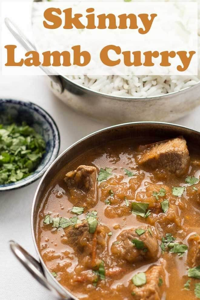 This skinny lamb curry is great when you want to enjoy the full flavours of a lamb curry without the guilty feeling of adding to your waist line. You'll love the taste of the tender lean lamb marinated in it's delicious curry sauce! #neilshealthymeals #recipe #skinny #lamb #curry