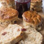 Wholemeal cranberry scones. If you love scones, you'll love these delicious fruity ones. They're such a delicious easy bake. Great for sharing with family and much healthier than those made just with white flour too!