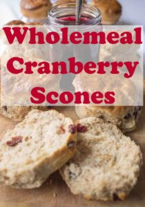 Wholemeal cranberry scones recipe. If you love scones, you'll love these delicious fruity ones. They're such a delicious easy bake. Great for sharing with family and much healthier than those made just with white flour too! #neilshealthymeals #recipe #baking #wholemeal #scones