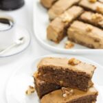 Low in fat and calories. Combine all three of these ingredients into this deliciously moist coffee walnut cake heaven.