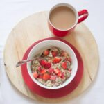 Strawberry and Almond Rye Flakes Porridge
