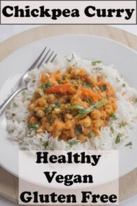 A plate of healthy chickpea curry.