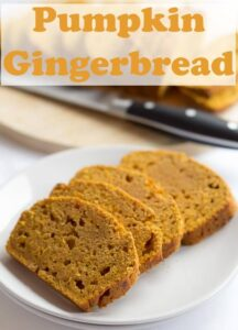 This healthy pumpkin gingerbread loaf is so delicious, you just wont be able to put it down. With an amazingly moist texture, and a fantastic zingy ginger hit, it's hard to believe that something so tasty is only 172 calories per slice and low in fat too! #neilshealthymeals #recipe #healthy #gingerbread #pumpkin #loaf