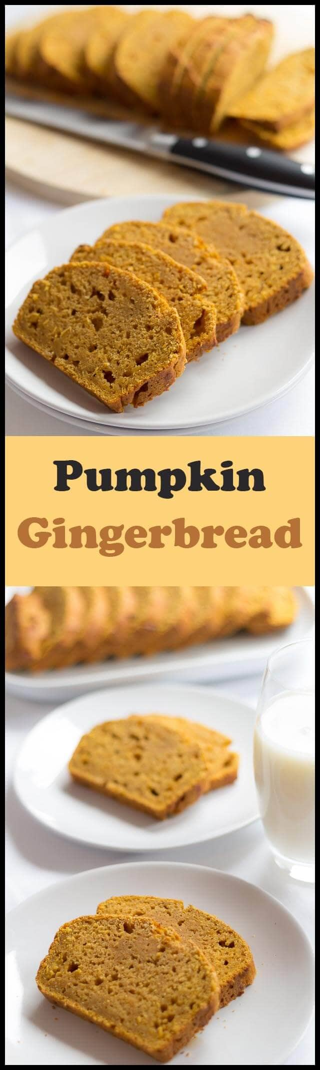 This pumpkin gingerbread is so delicious, you just wont be able to put it down. With an amazingly moist texture, and a fantastic zingy ginger hit, it's hard to believe that something so tasty is only 172 calories per slice and low in fat too!