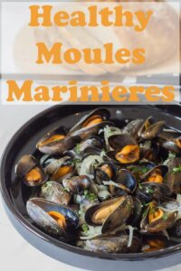 Healthy moules marinieres mussels. Easy to prepare, low cost and made with no cream! If you're a lover of fresh mussels but not the original recipe with cream then you'll love this dish. And so will your waistline! #neilshealthymeals #recipe #moules #mussels