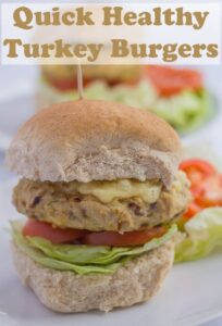 Healthier and lower in fat, these tasty turkey burgers are not only quick and easy to prepare but kids just love them. #neilshealthymeals #recipe #turkey #burger