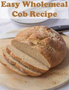 Wholemeal cob loaf is the perfect accompaniment for soups, meat and fish stews. This easy cob loaf recipe is made by good old fashioned hand kneading! #neilshealthymeals #recipe #cob #loaf #wholemealcob