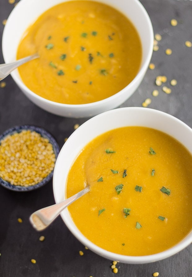Carrot Ginger and Mung Bean Soup