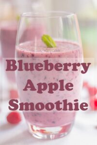 This blueberry apple smoothie is not only healthy but it tastes just great. A great aid to weight loss and an amazingly refreshing wakeup call this is one smoothie you won't want to put down! #neilshealthymeals #recipe #breakfast #smoothie #blueberry #apple #healthy #easy