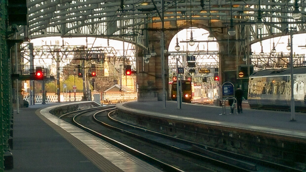 Glasgow Central Railway Station View Platform 10