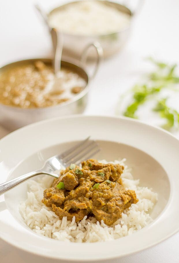 Healthy mild beef curry. Low in calories but packed full of flavour. Made with store cupboard spices, this mild beef curry that will have your tongue tingling with delight, not burning alight!