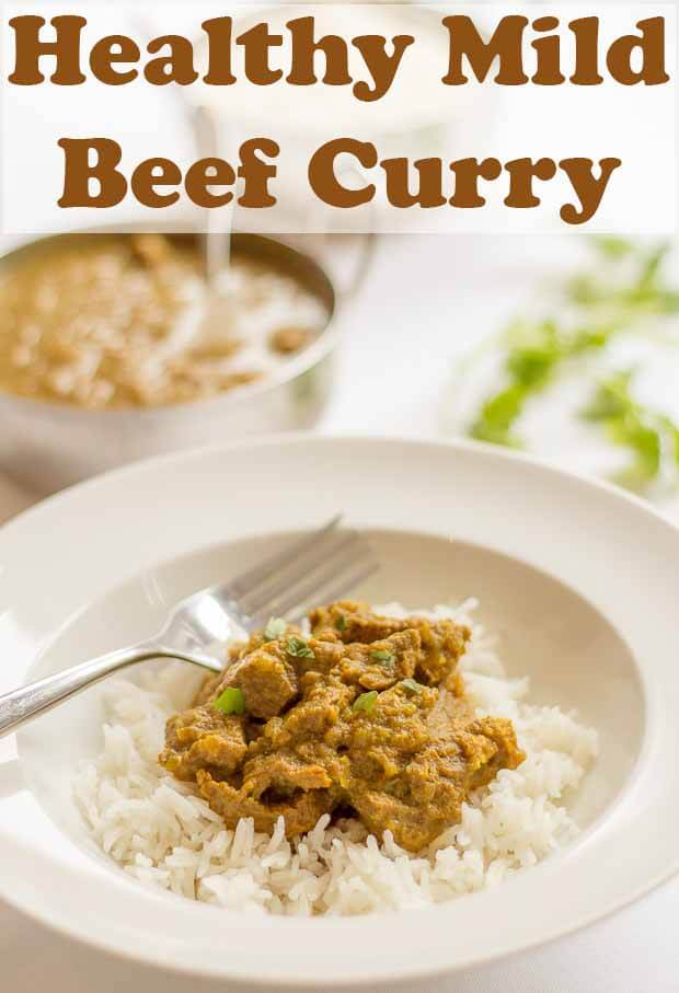 Mild beef curry. This easy healthy recipe is delicious, low in calories and packed with flavour. This simple Indian curry is one all the family will enjoy! #neilshealthymeals #recipe #mild #beef #curry #beefcurry
