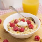 Raspberry Bircher Overnight Oats