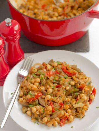 Ratatouille and Chickpea Stew