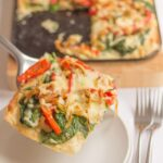 Red Pepper and Spinach Filo Tart