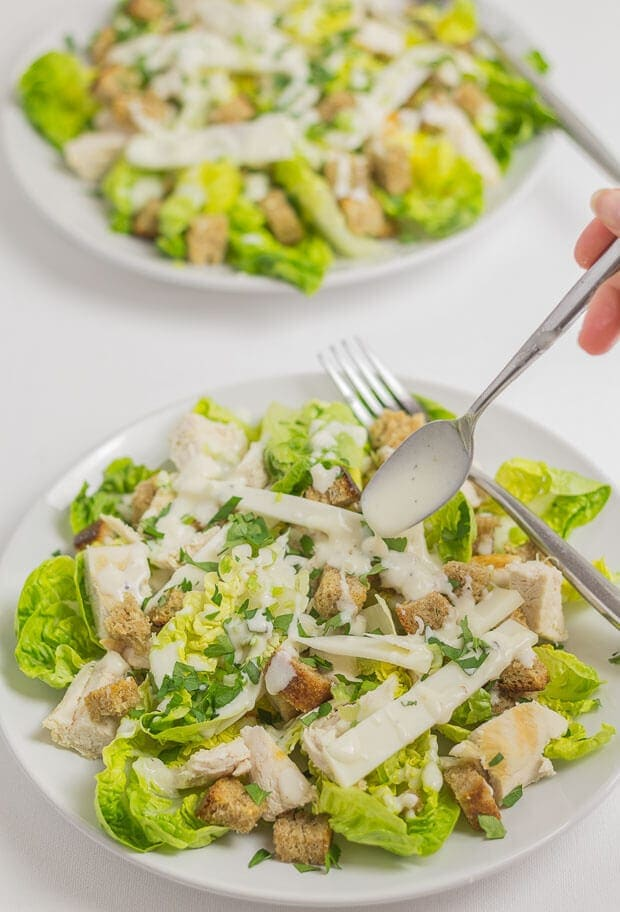 Classic chicken Caesar salad made healthier with wholemeal croutons and a new lower calorie dressing. It's basically the same taste as the delicious original, you just wont be counting the impact of the calories with this version!