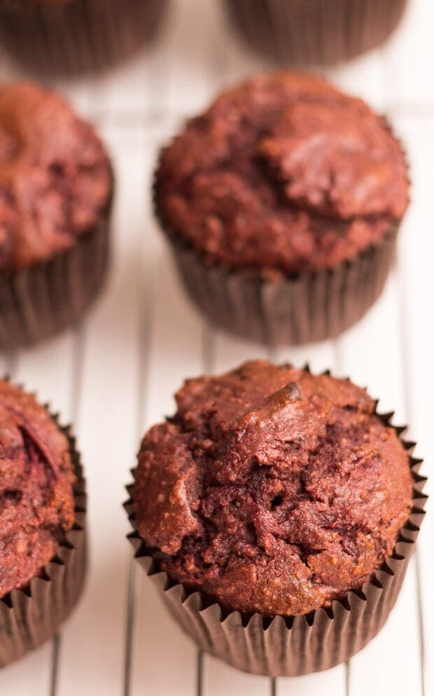 Oozing with chocolate taste and with a deliciously moist and fluffy textured centre. If you haven't had chocolate and beetroot as a combination before these amazing muffins will really surprise you.