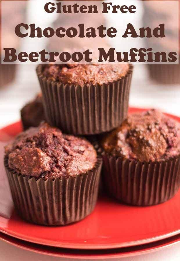 These gluten free chocolate and beetroot muffins have a deliciously moist and fluffy textured centre. They ooze with chocolate taste and are easy to make! #neilshealthymeals #recipe #glutenfree #glutenfreemuffins #chocolatemuffins
