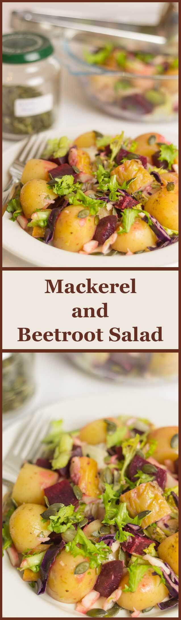 Rich in essential healthy oils, vitamins and minerals, this mackerel beetroot salad suggested packed lunch option is perfect to keep you healthy and full.